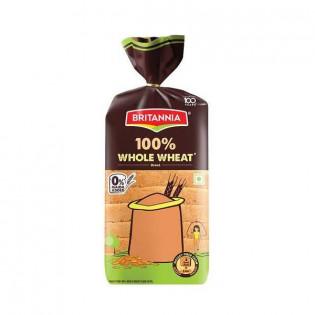 Britannia Whole Wheat Bread, 450 g Pouch