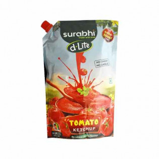 Surabhi D-lite Tomato Ketchup Non Onion No Garlic 900 gm