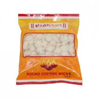 Shubhkart round cotton wicks (125pcs)